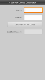 Cost Per Ounce Calculator- screenshot thumbnail