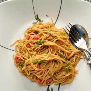 Pasta with Pomodoro Cream Sauce.