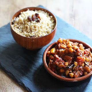 MOROCCAN VEGETABLE & CHICKPEA TAGINE.