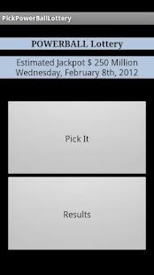 Pick Lottery Powerball - screenshot thumbnail