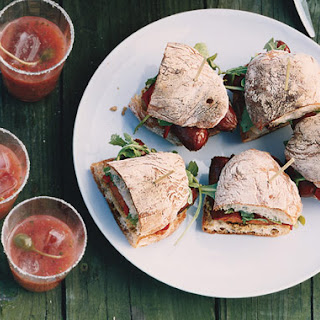 Sausage, Arugula, and Piquillo Pepper Sandwiches