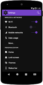 DarkOut Purple CM12/CM11 Theme v1.0