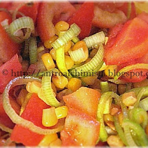 Tomato, Corn and Leek Salad