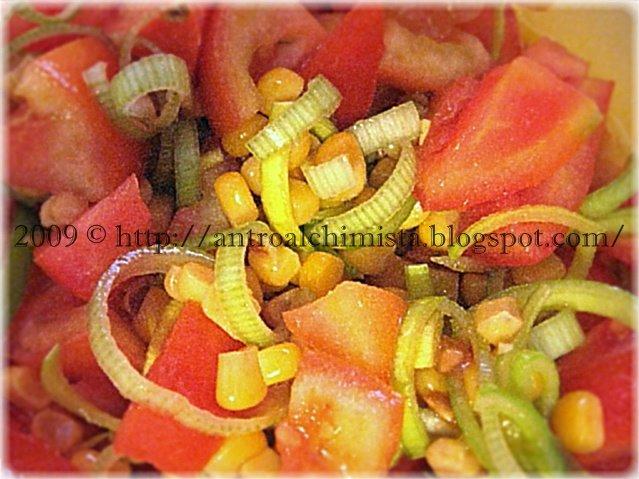 Tomato, Corn and Leek Salad Recipe