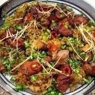 Teriyaki Chicken with Broccoli and Shiitake Rice Recipe
