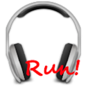Run! Headphones player logo