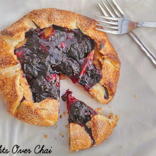 Rosewater and Cinnamon Infused Apple Blueberry Galette