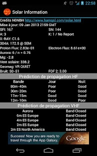 Solar data & HF propagation - screenshot thumbnail