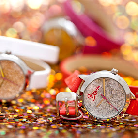 Boum Watches by Joe Eddy - Artistic Objects Clothing & Accessories ( red, watch, wrist, pink, yellow, glitter )
