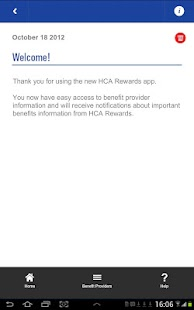 HCA Rewards Tablet- screenshot thumbnail