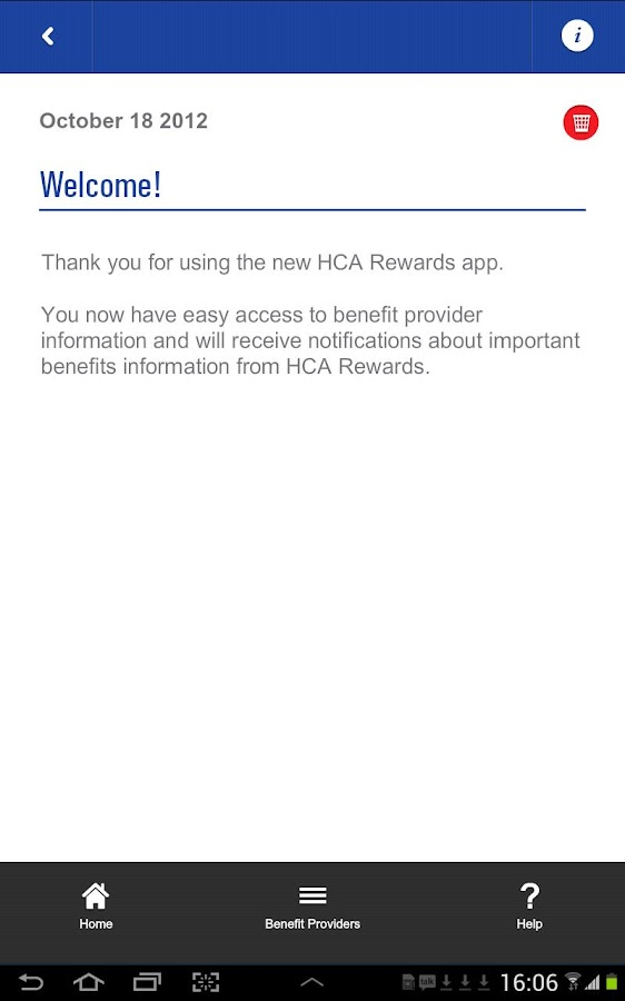HCA Rewards Tablet- screenshot