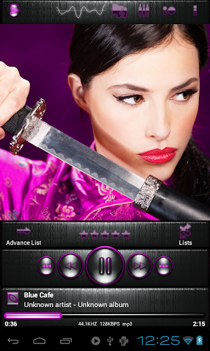 Poweramp skin STEEL OF I. PINK