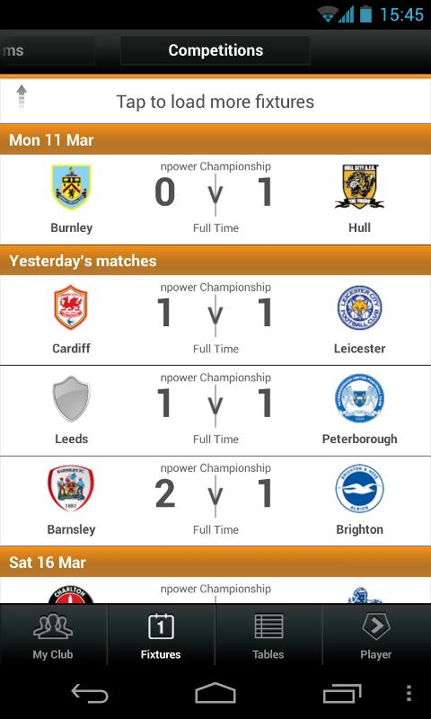 Football League Clubs' App - screenshot
