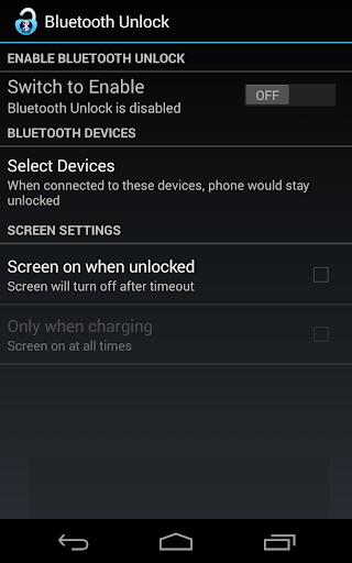 Bluetooth Unlock