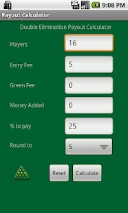 Tournament Payout Calculator - screenshot thumbnail