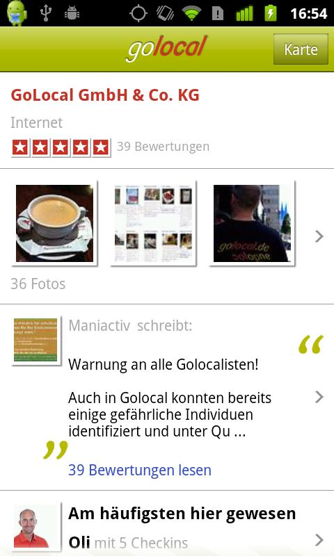 golocal - screenshot