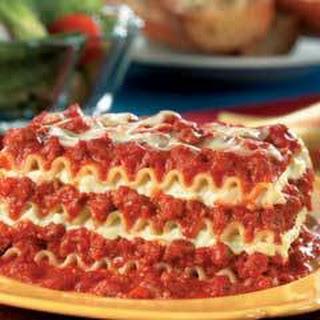 Easy Beef Lasagna .