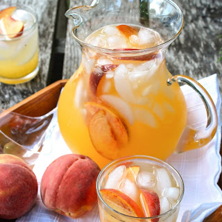 Sparkling Spiked Peach Lemonade.