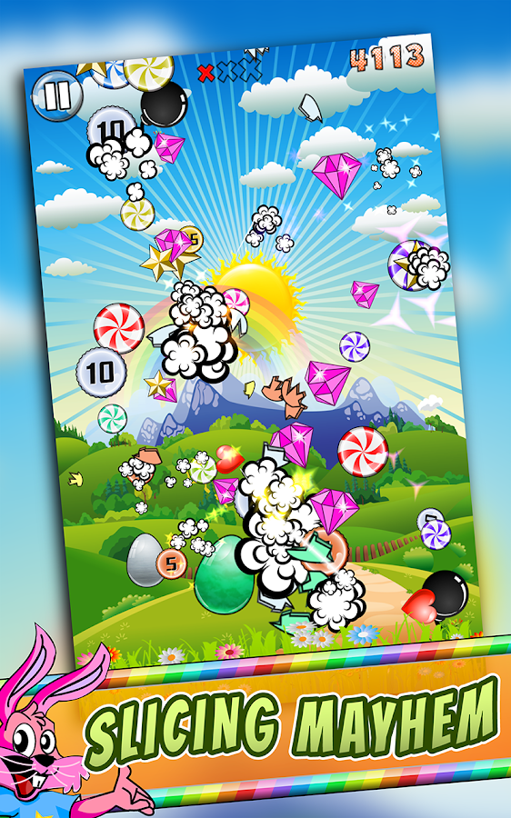 Easter Egg Candy Slicer Game- screenshot