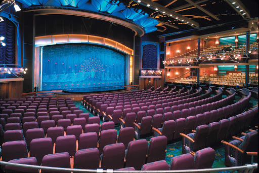 Adventure-of-the-Seas-Theater - Watch entertainers, musical acts and Broadway-style performances in the theater aboard Adventure of the Seas.