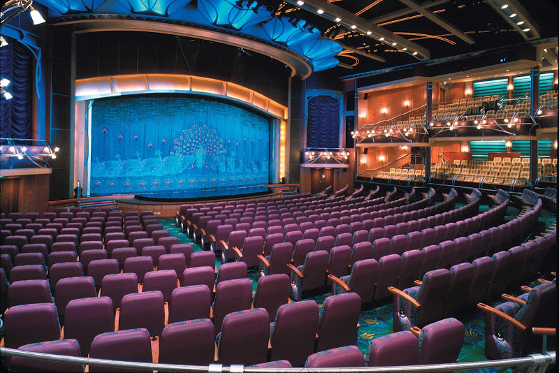 Watch entertainers, musical acts and Broadway-style performances in the theater aboard Adventure of the Seas.