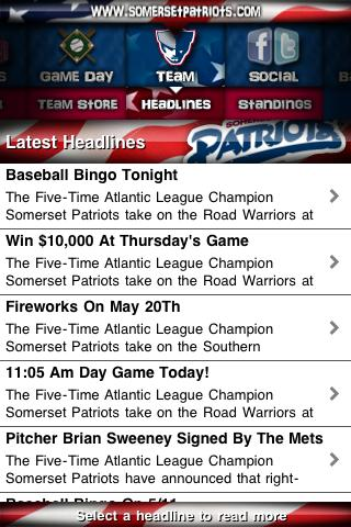 Somerset Patriots- screenshot