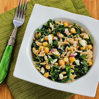 Whole Wheat Orzo Salad with Kale, Chickpeas, Lemon, and Feta
