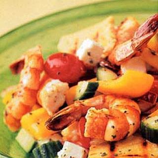 Grilled Shrimp Greek Salad