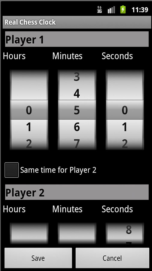 Real Chess Clock - screenshot