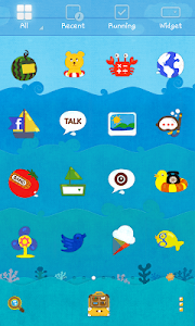 Sea Story dodol theme screenshot 2