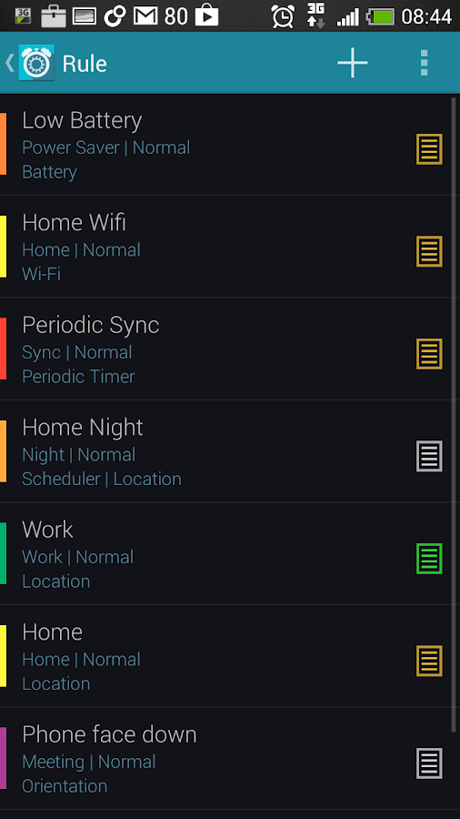 Profile Scheduler+ - screenshot