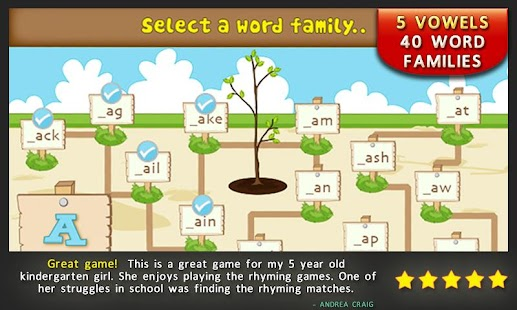 Preschool Rhymes Reading Games - screenshot thumbnail