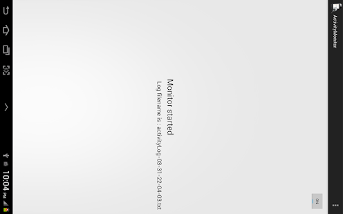 Activity Monitor-A UX Tool screenshot