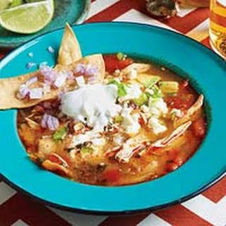 Jane Foxs Famous Tortilla Soup.