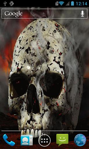 Smoldering skull live paper