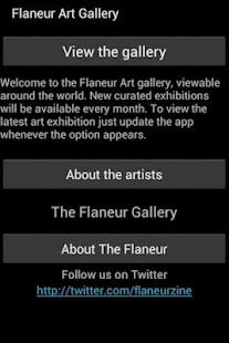 Flaneur Art Gallery - screenshot thumbnail