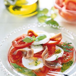 Salade Caprese met ansjovis