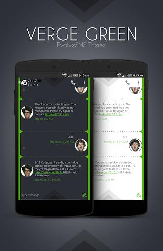 EvolveSMS Theme - Verge Green