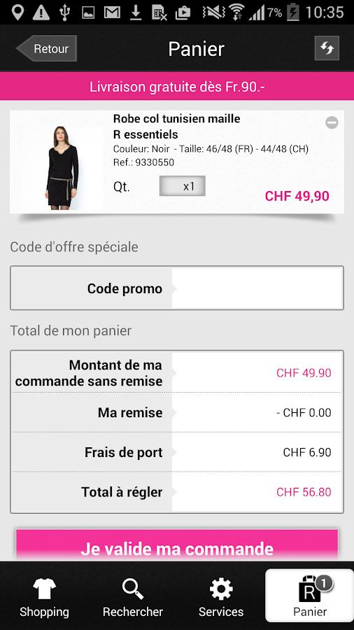 La Redoute CH - screenshot