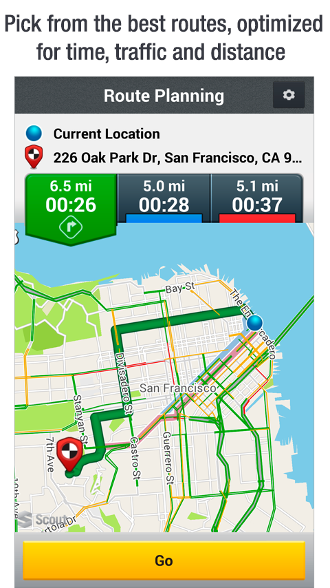 Scout GPS Navigation & Traffic - screenshot