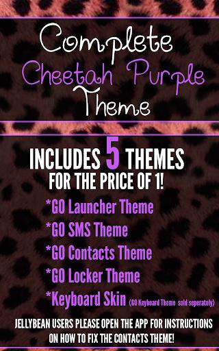 Complete Cheetah Purple Theme