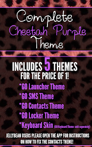 Complete Cheetah Purple Theme screenshot 0