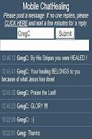 Screenshot of Chat Healing in Jesus' Name!