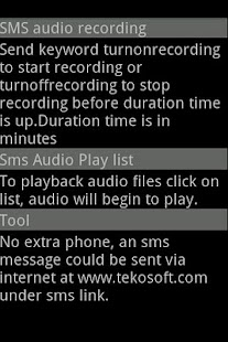 SMS Audio Recorder Spy- screenshot thumbnail