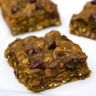Chocolate Chip Pumpkin Protein Bars.