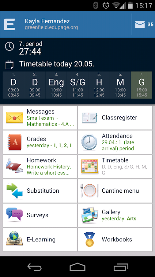 EduPage- screenshot