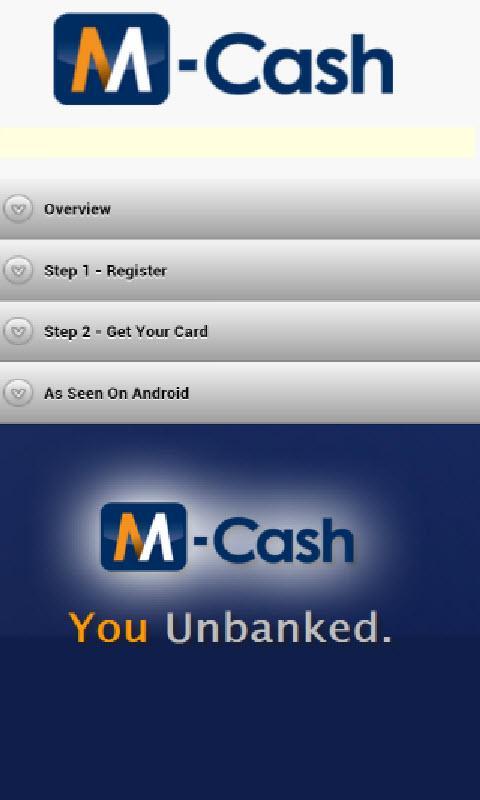 M-Cash(tm) Wallet - screenshot