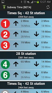 NYC Subway Times [MTA/BETA]- screenshot thumbnail
