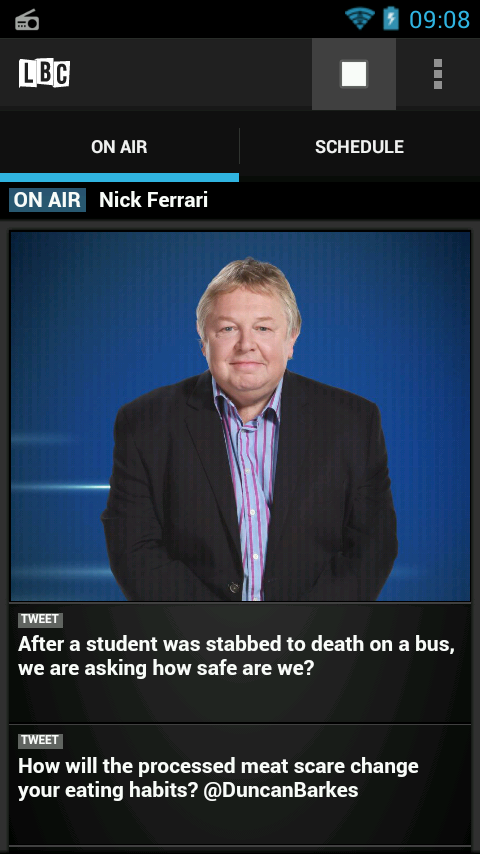 LBC Radio App- screenshot