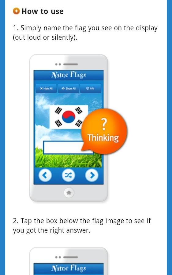 Knowledge Taps™: Name Flags- screenshot